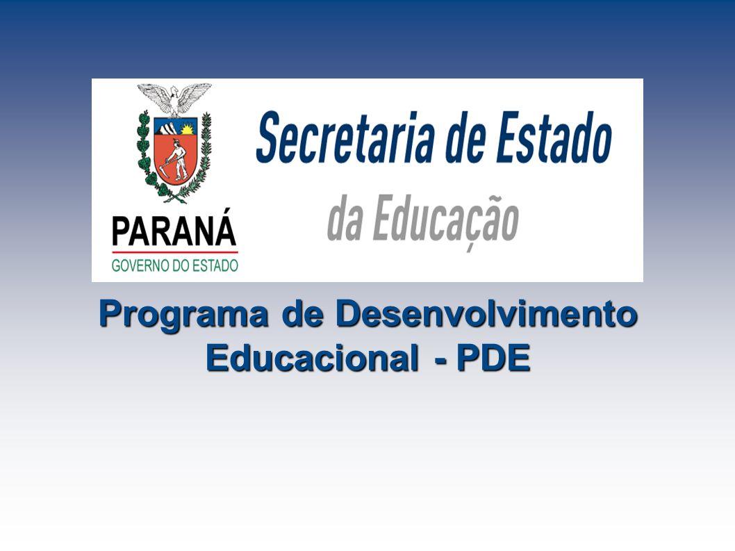 Programa de Desenvolvimento Educacional - PDE