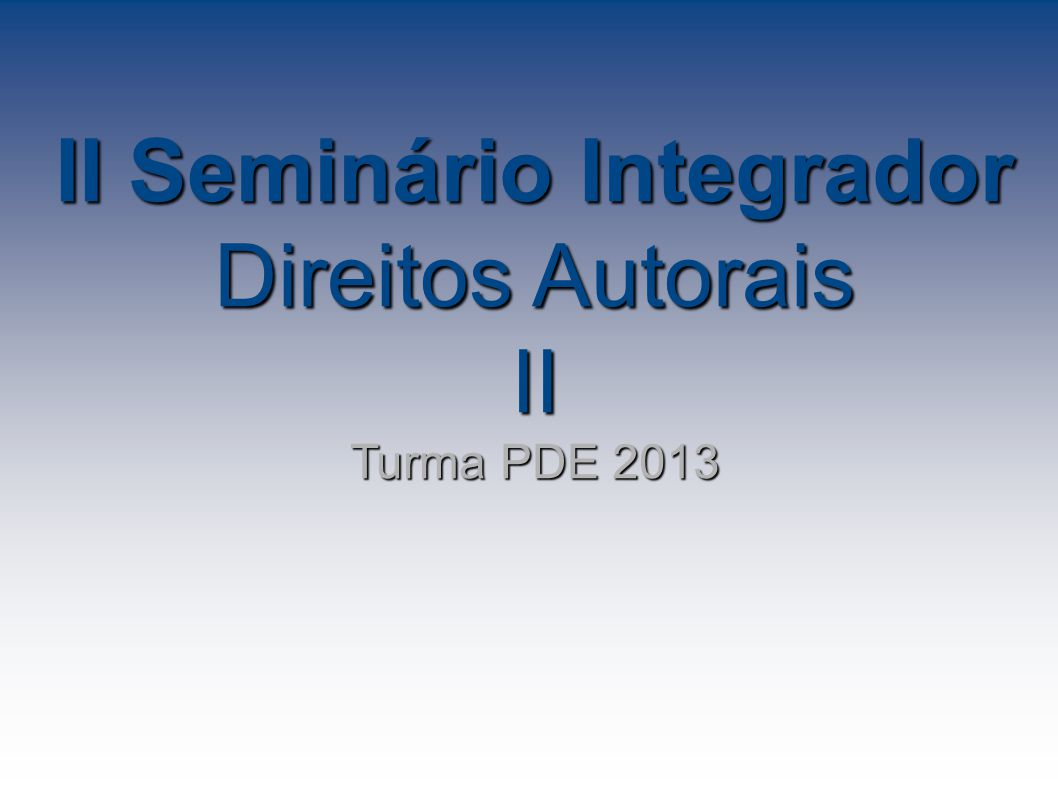 II Seminário Integrador