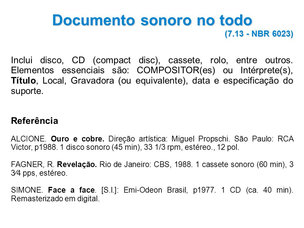 Documento sonoro no todo
