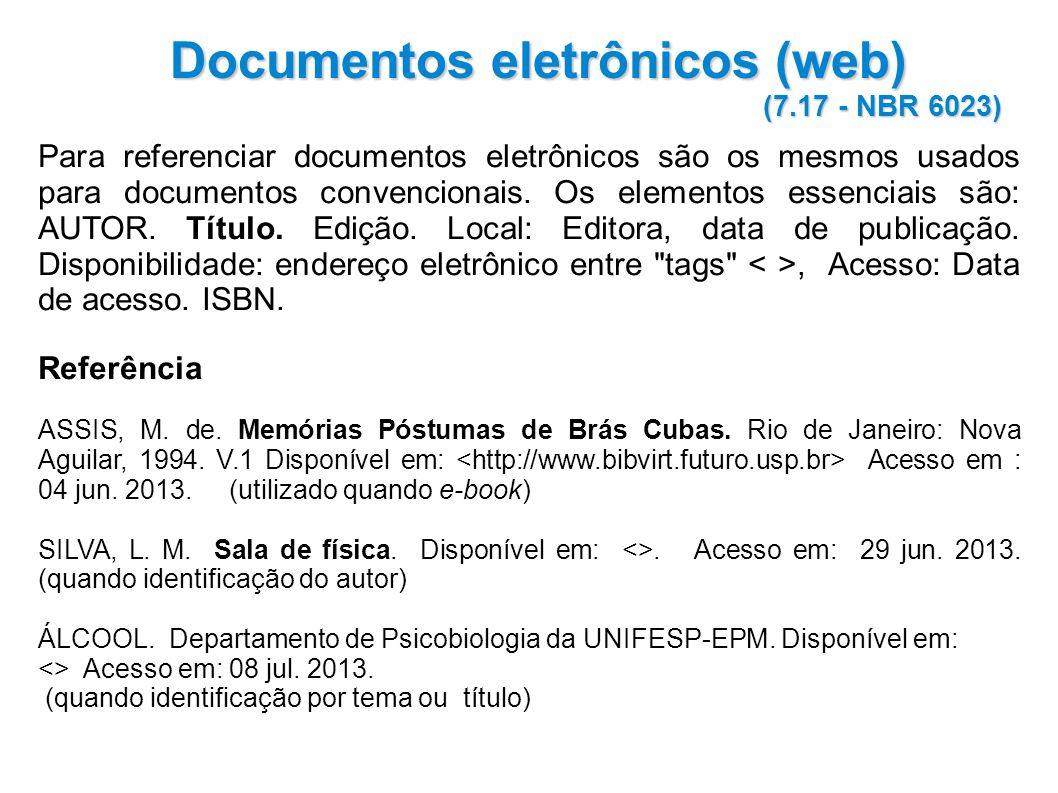 Documentos eletrônicos (web)
