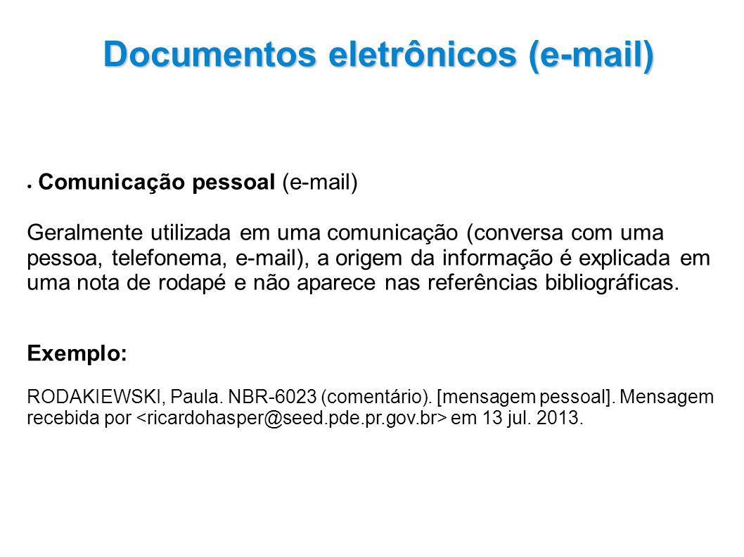 Documentos eletrônicos (e-mail)