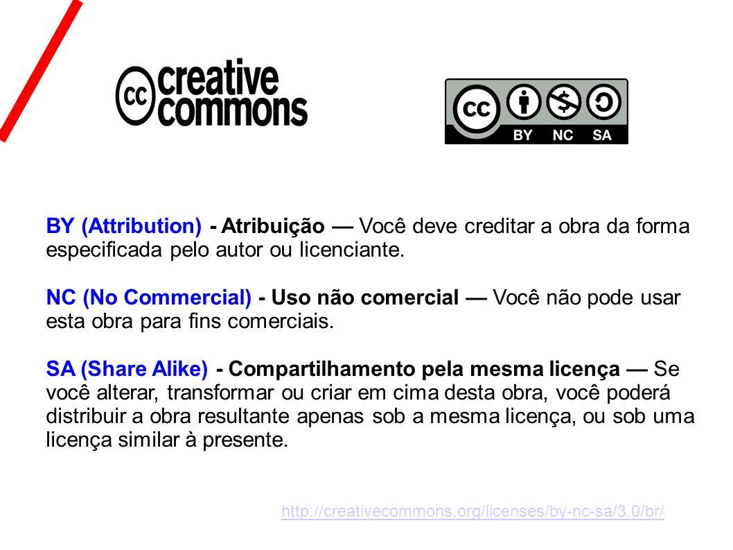 BY (Attribution) - Atribuição — Você deve creditar a obra da forma