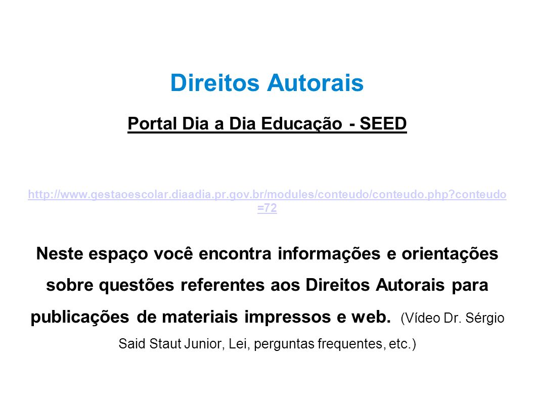 Portal Dia a Dia Educação - SEED
