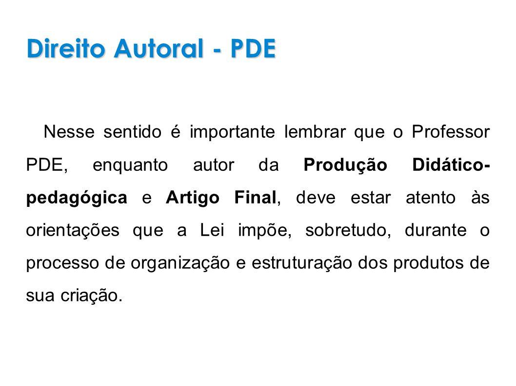 Direito Autoral - PDE