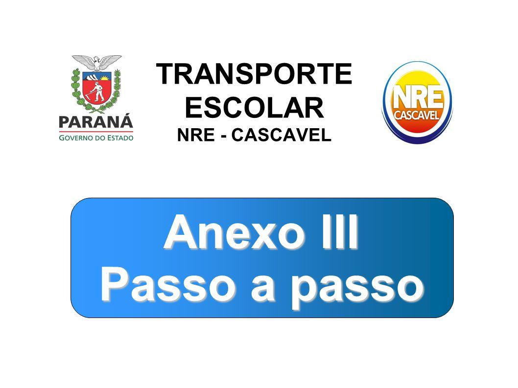 TRANSPORTE ESCOLAR NRE - CASCAVEL