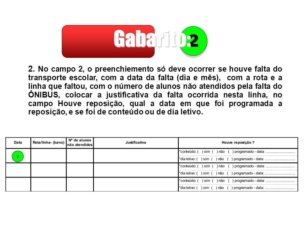 Gabarito: 2.