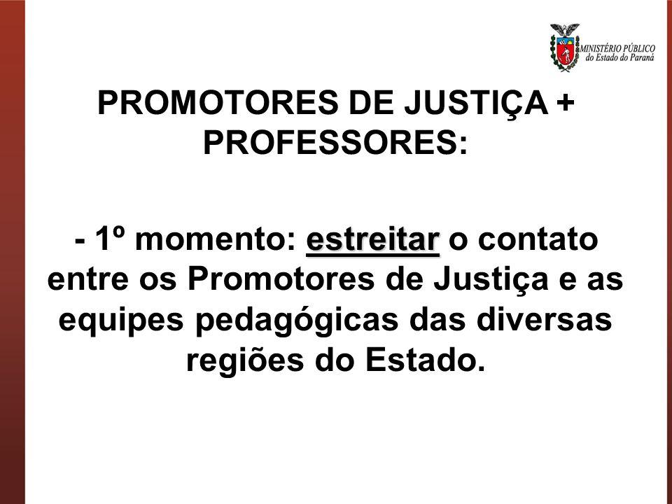 PROMOTORES DE JUSTIÇA + PROFESSORES: