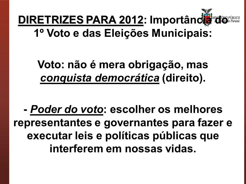 Voto: não é mera obrigação, mas conquista democrática (direito).