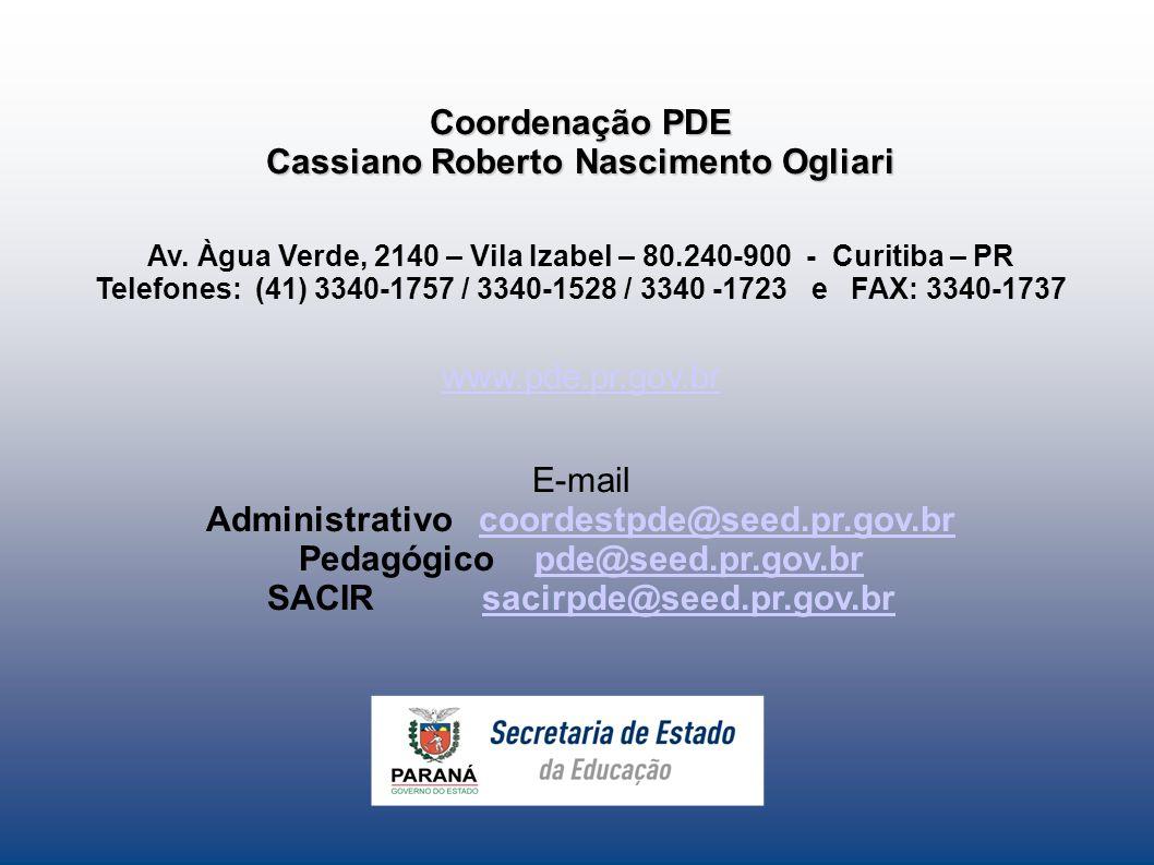Cassiano Roberto Nascimento Ogliari