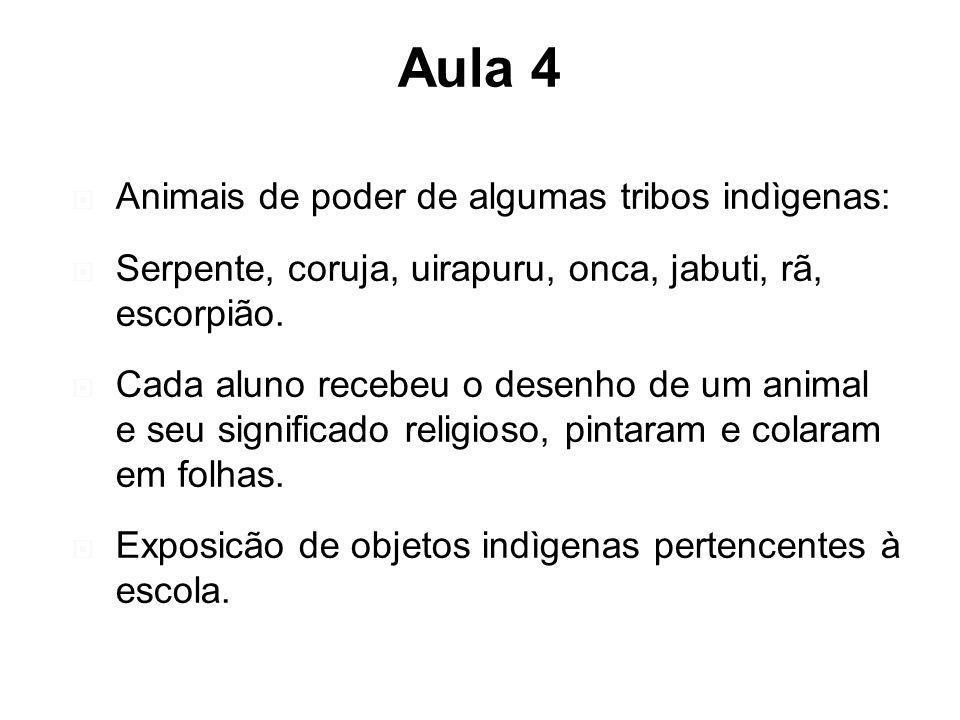 Aula 4 Animais de poder de algumas tribos indìgenas: