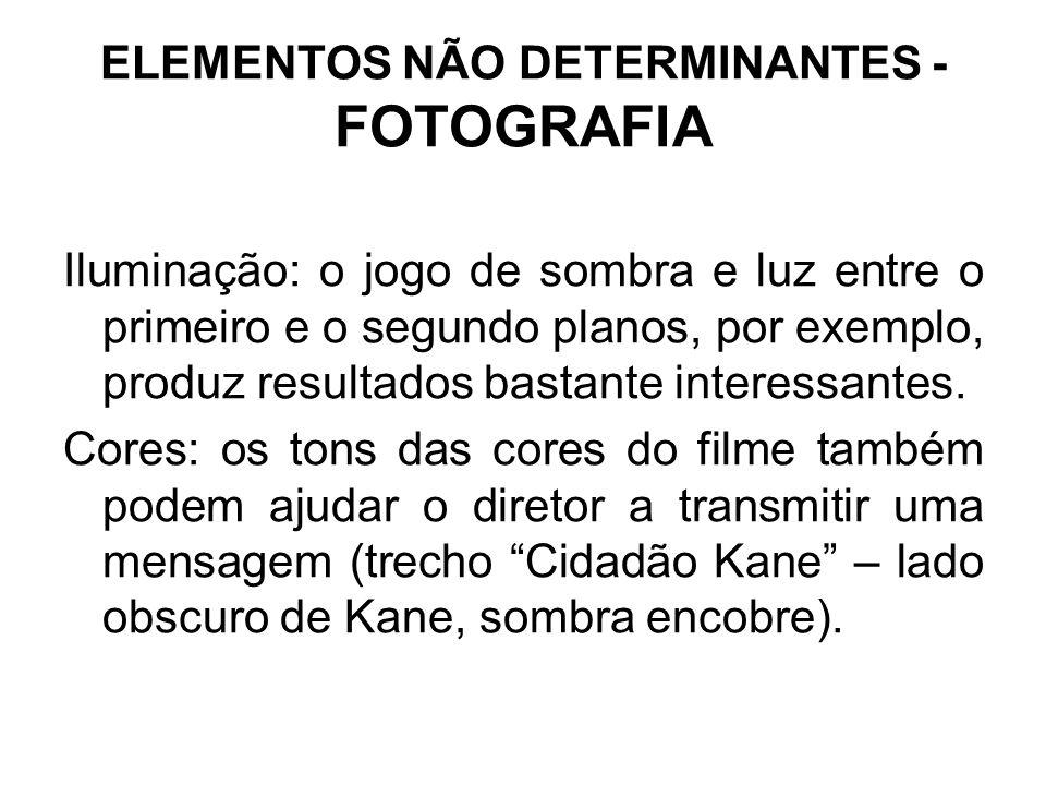 ELEMENTOS NÃO DETERMINANTES - FOTOGRAFIA
