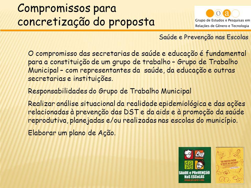 Compromissos para concretização do proposta