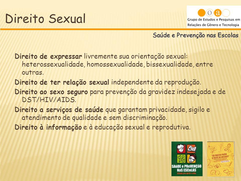 Direito Sexual Saúde e Prevenção nas Escolas.