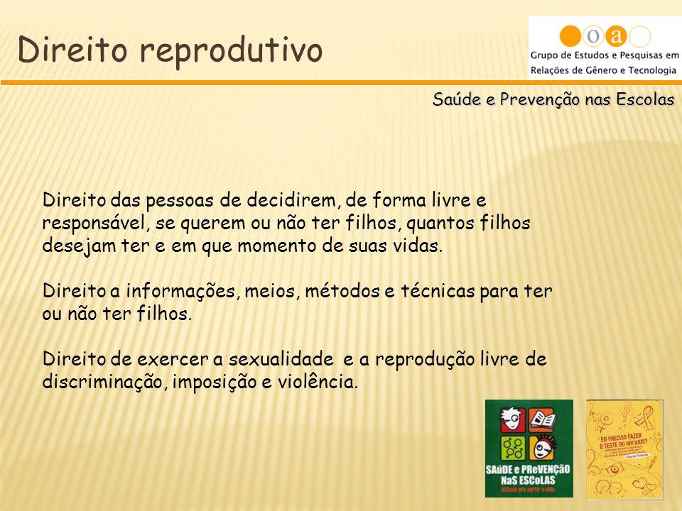 Direito reprodutivo Saúde e Prevenção nas Escolas.