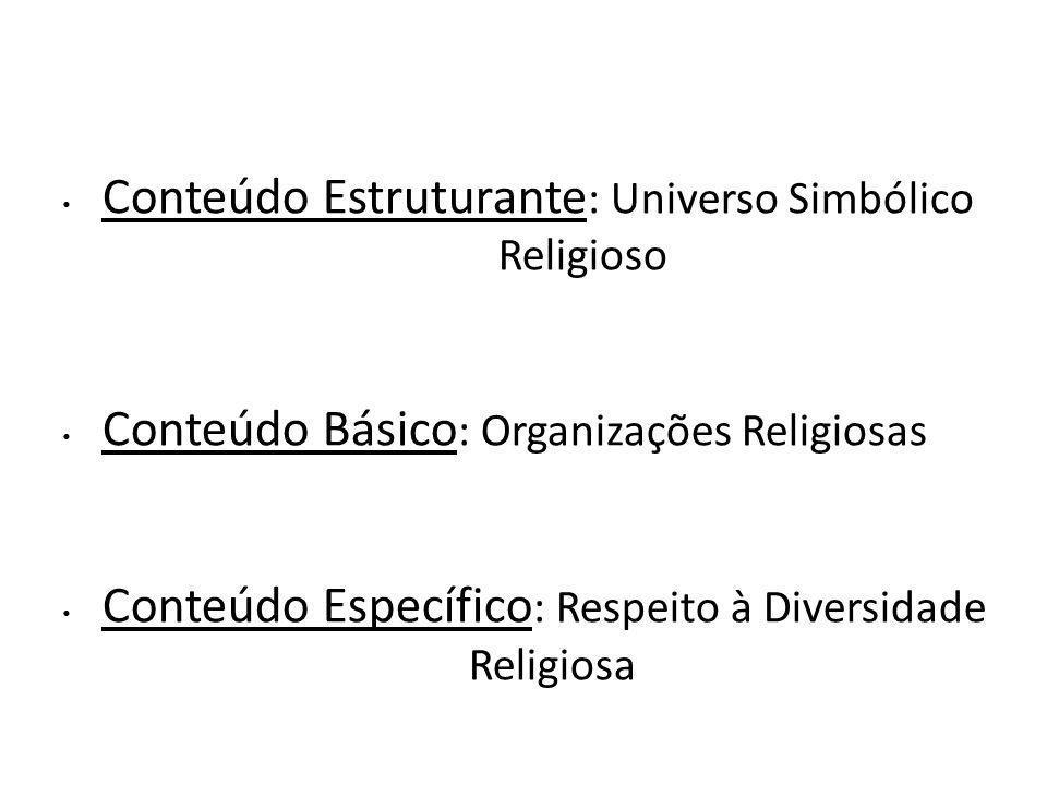 Conteúdo Estruturante: Universo Simbólico Religioso