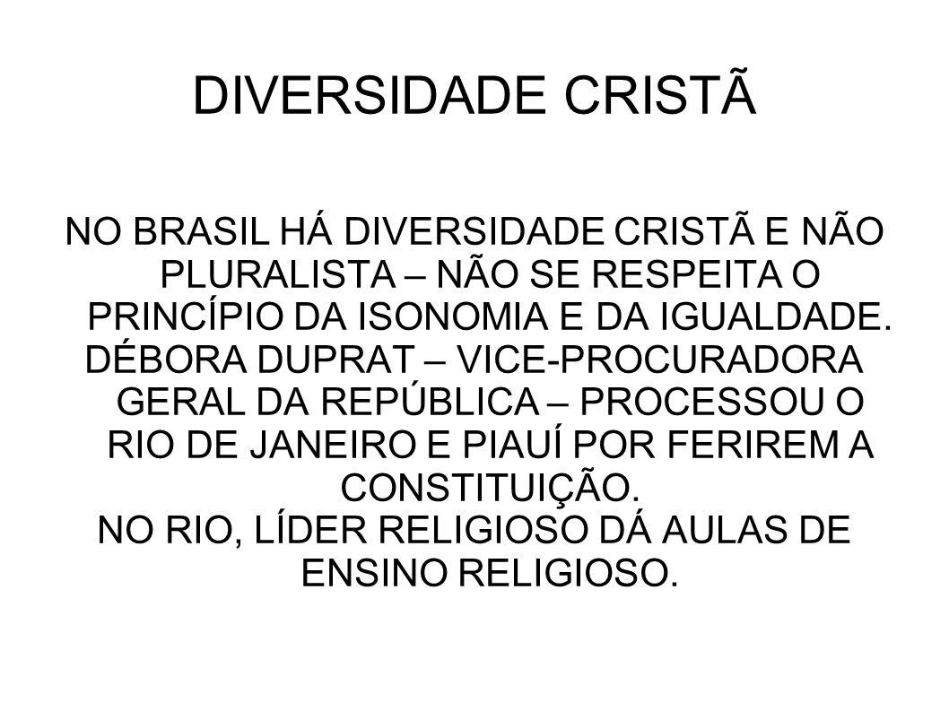 NO RIO, LÍDER RELIGIOSO DÁ AULAS DE ENSINO RELIGIOSO.