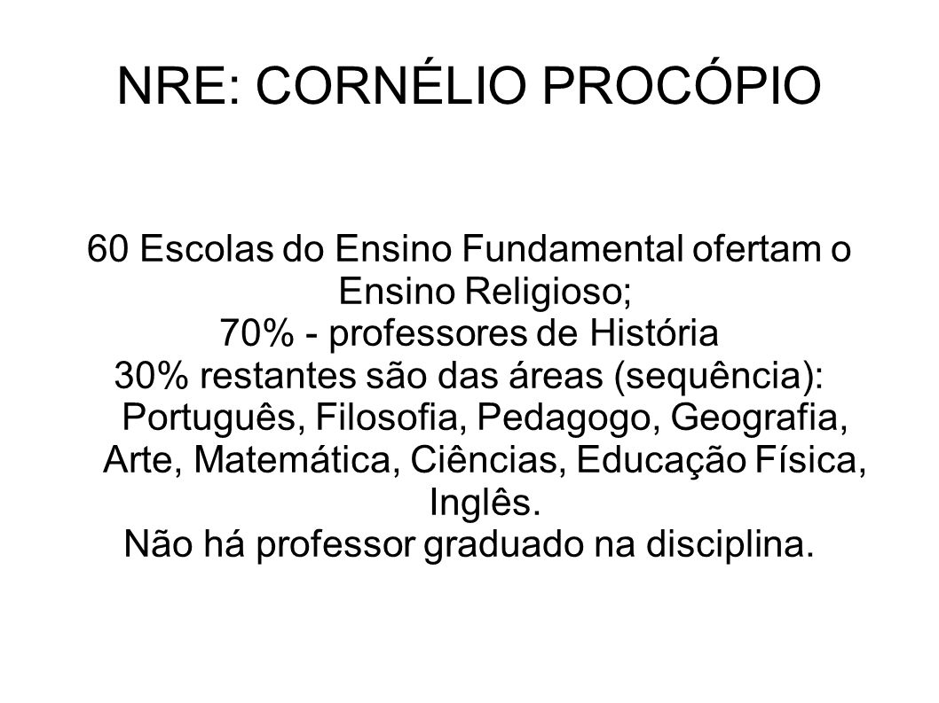 NRE: CORNÉLIO PROCÓPIO