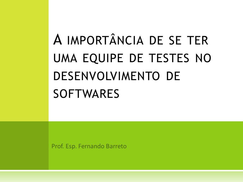 Prof. Esp. Fernando Barreto