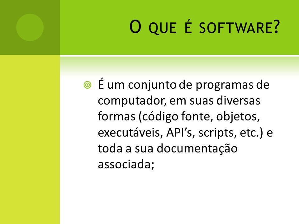 O que é software