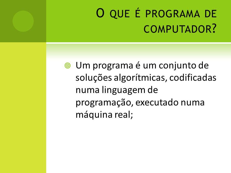 O que é programa de computador