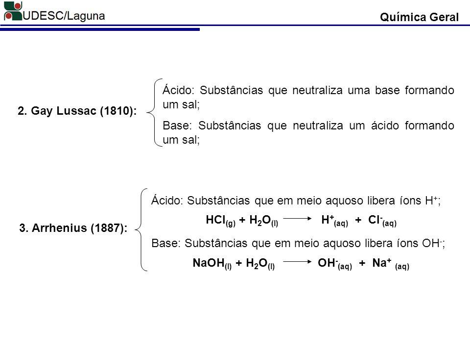 HCl(g) + H2O(l) H+(aq) + Cl-(aq) NaOH(l) + H2O(l) OH-(aq) + Na+ (aq)