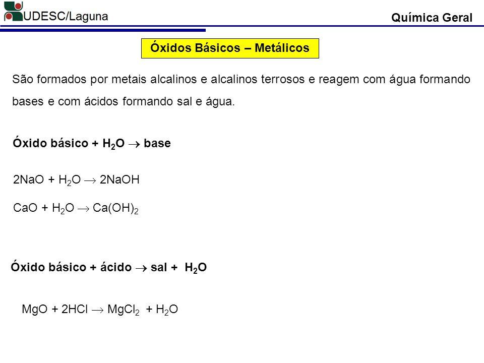 Óxidos Básicos – Metálicos