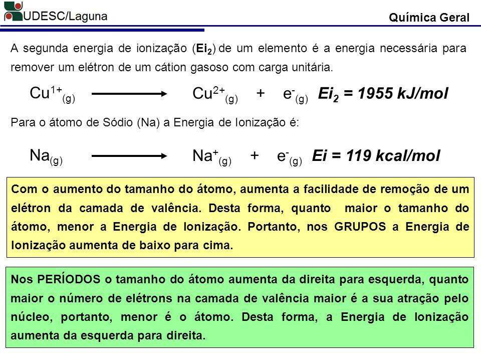 Cu2+(g) + e-(g) Ei2 = 1955 kJ/mol