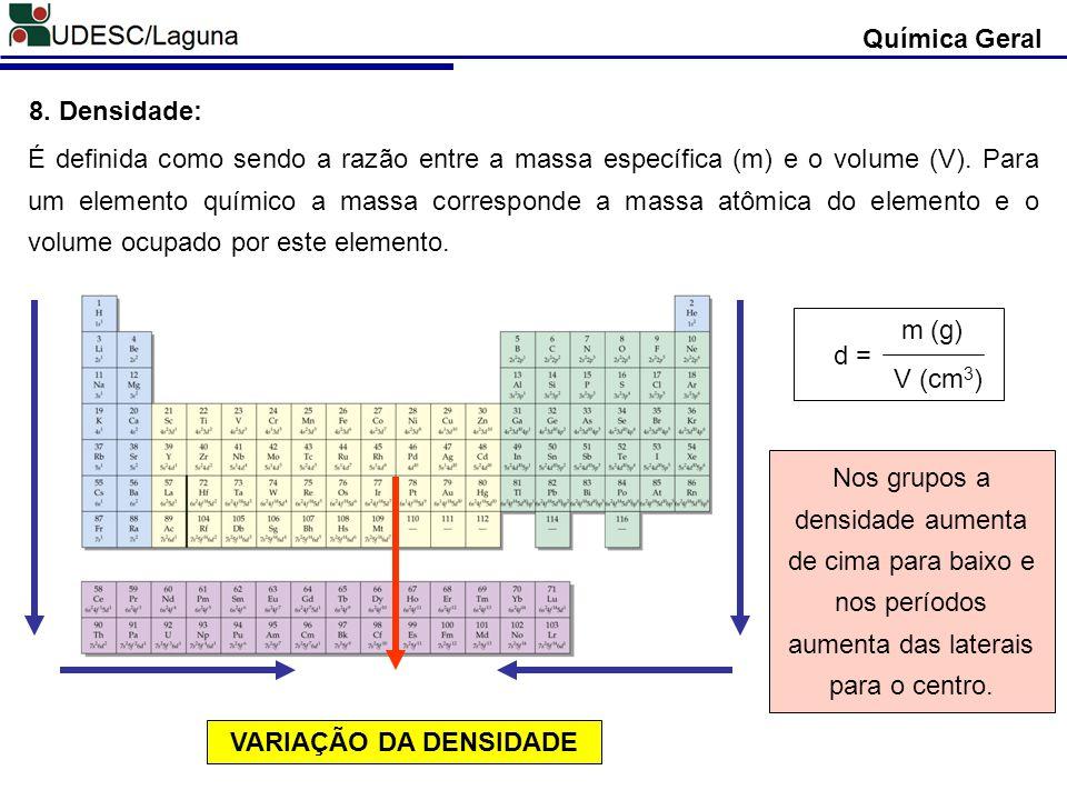 Química Geral 8. Densidade: