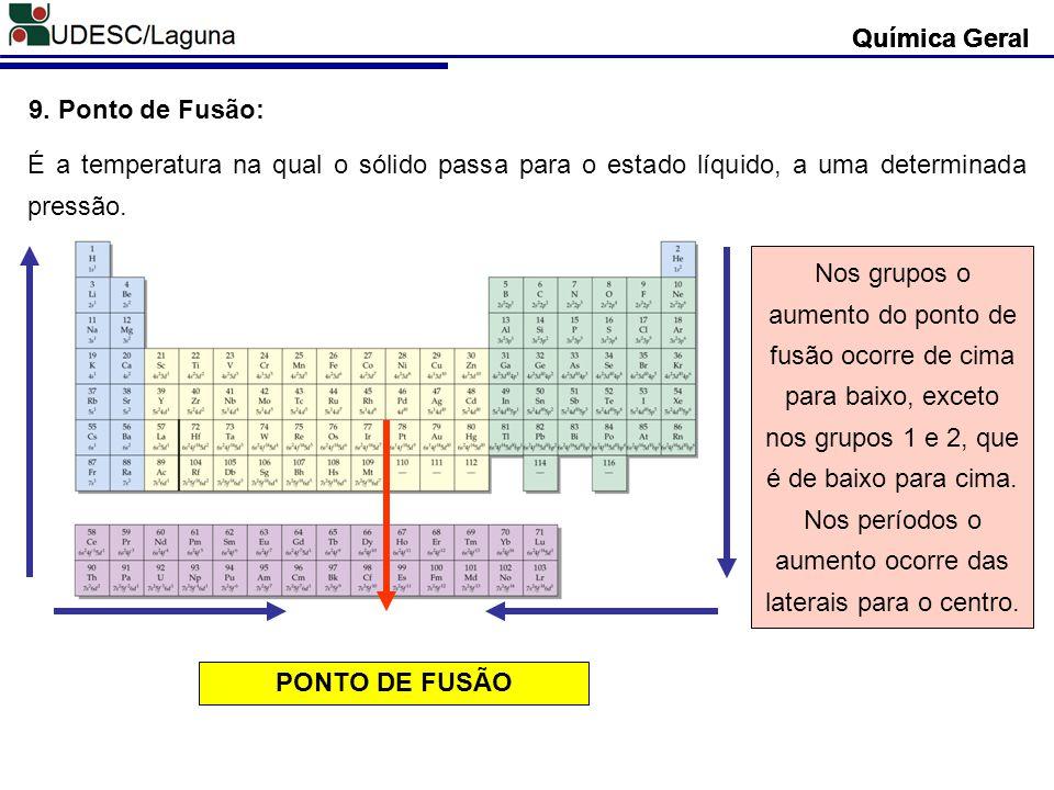 Química Geral Química Geral. Química Geral. 9. Ponto de Fusão: