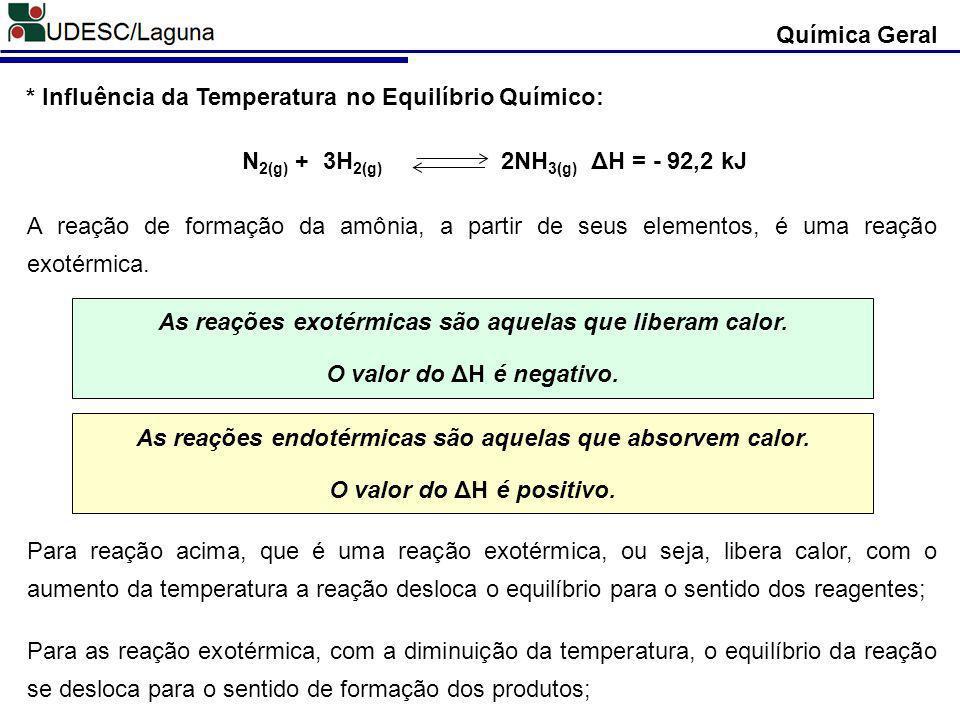 N2(g) + 3H2(g) 2NH3(g) ΔH = - 92,2 kJ