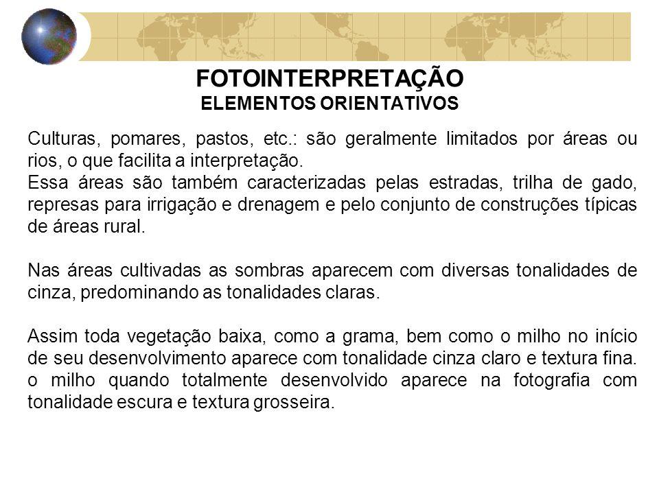 FOTOINTERPRETAÇÃO ELEMENTOS ORIENTATIVOS