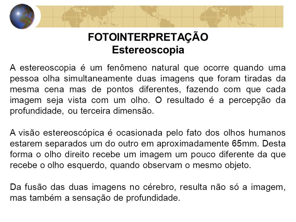 FOTOINTERPRETAÇÃO Estereoscopia