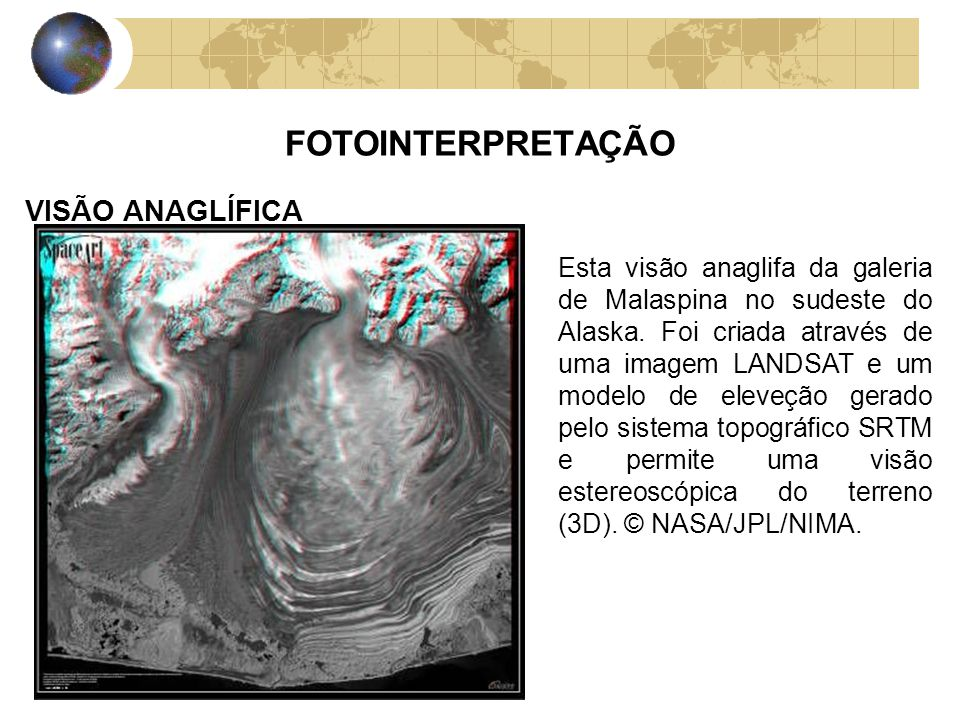 FOTOINTERPRETAÇÃO VISÃO ANAGLÍFICA