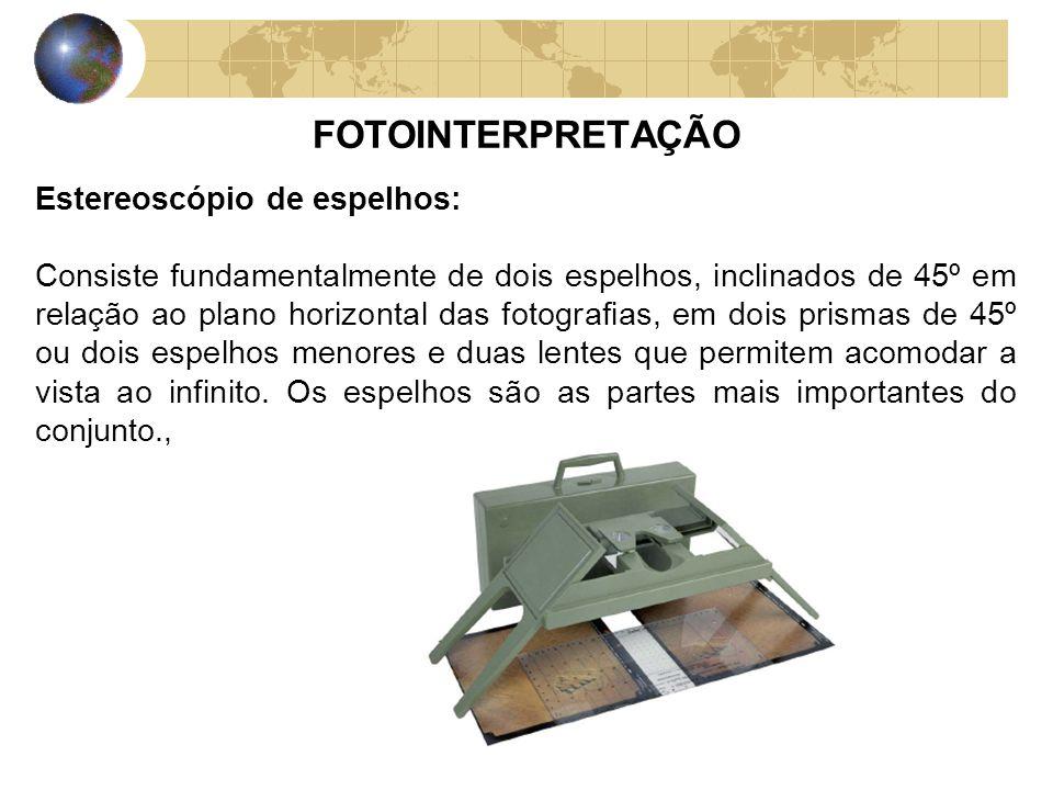FOTOINTERPRETAÇÃO Estereoscópio de espelhos: