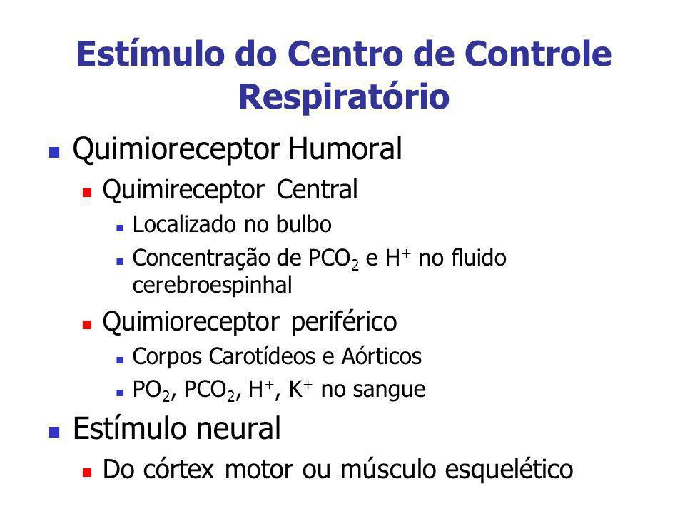 Estímulo do Centro de Controle Respiratório
