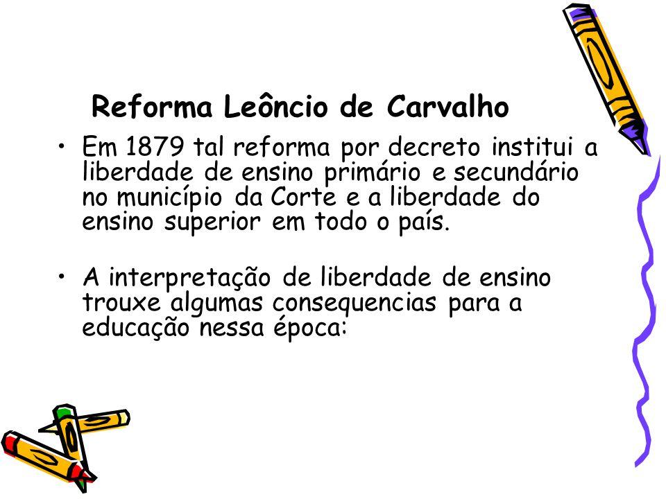 Reforma Leôncio de Carvalho