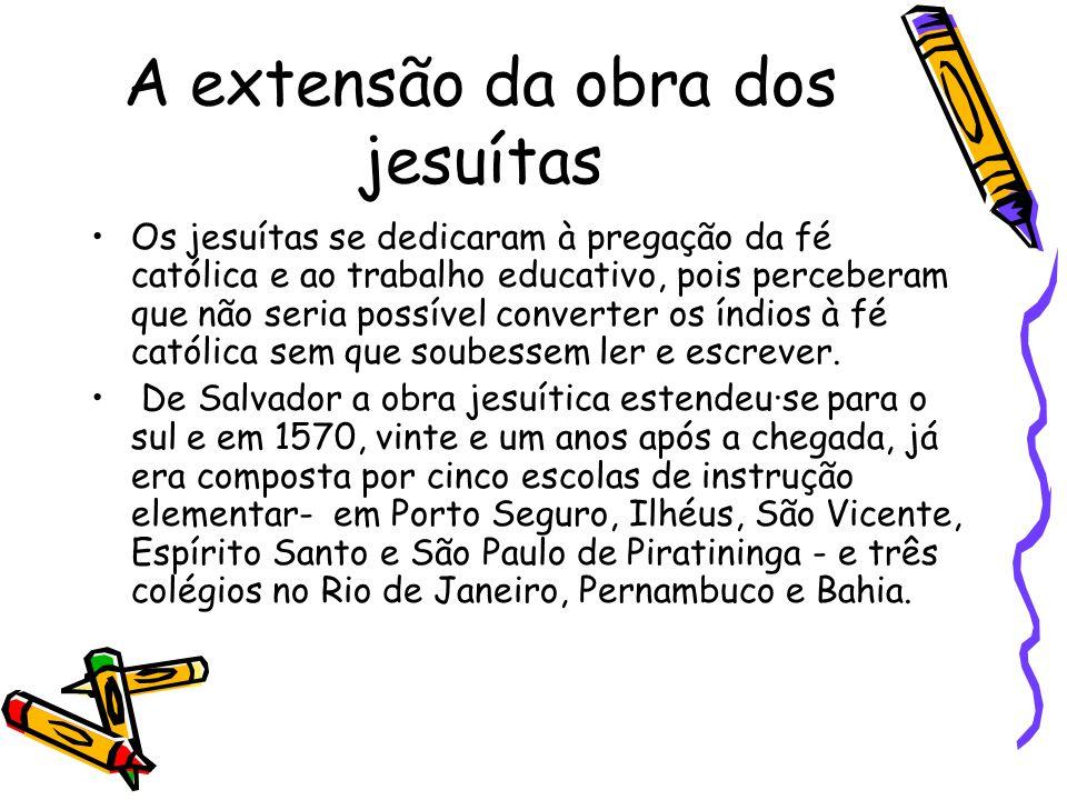 A extensão da obra dos jesuítas