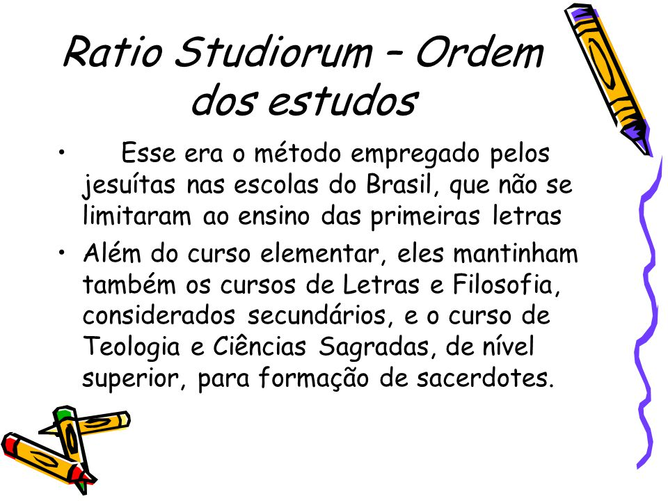 Ratio Studiorum – Ordem dos estudos