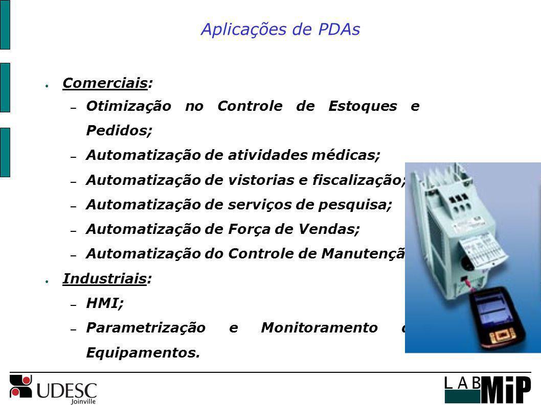 Aplicações de PDAs Comerciais: