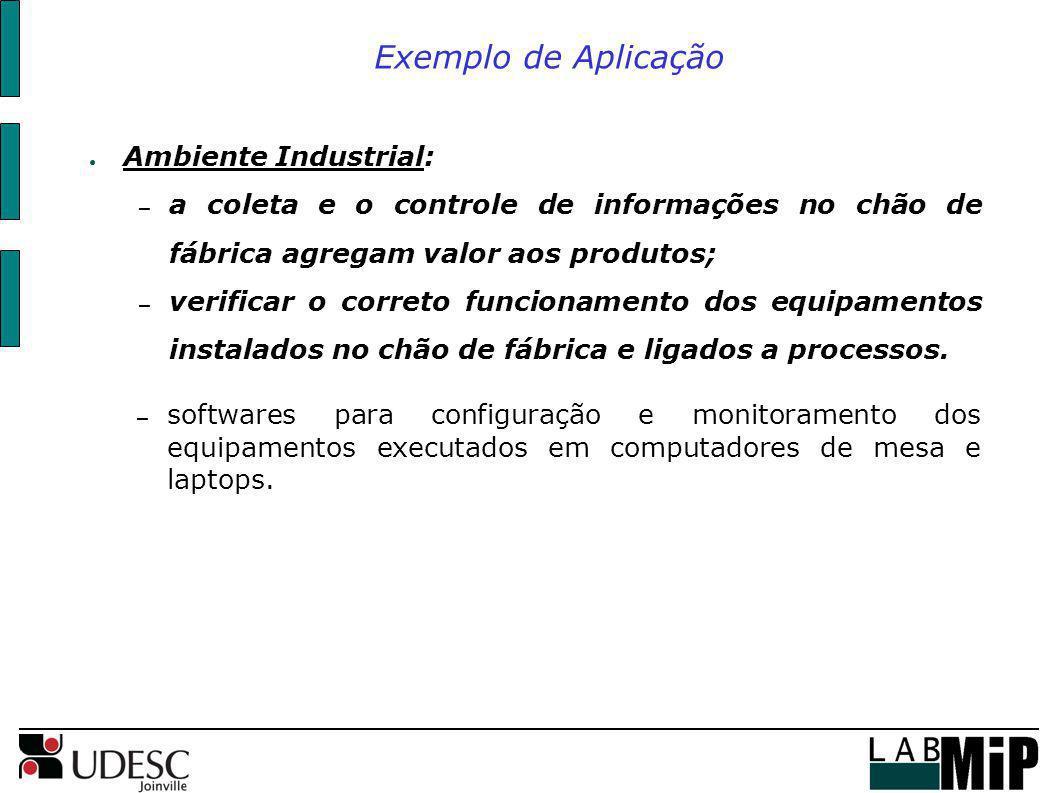 Exemplo de Aplicação Ambiente Industrial: