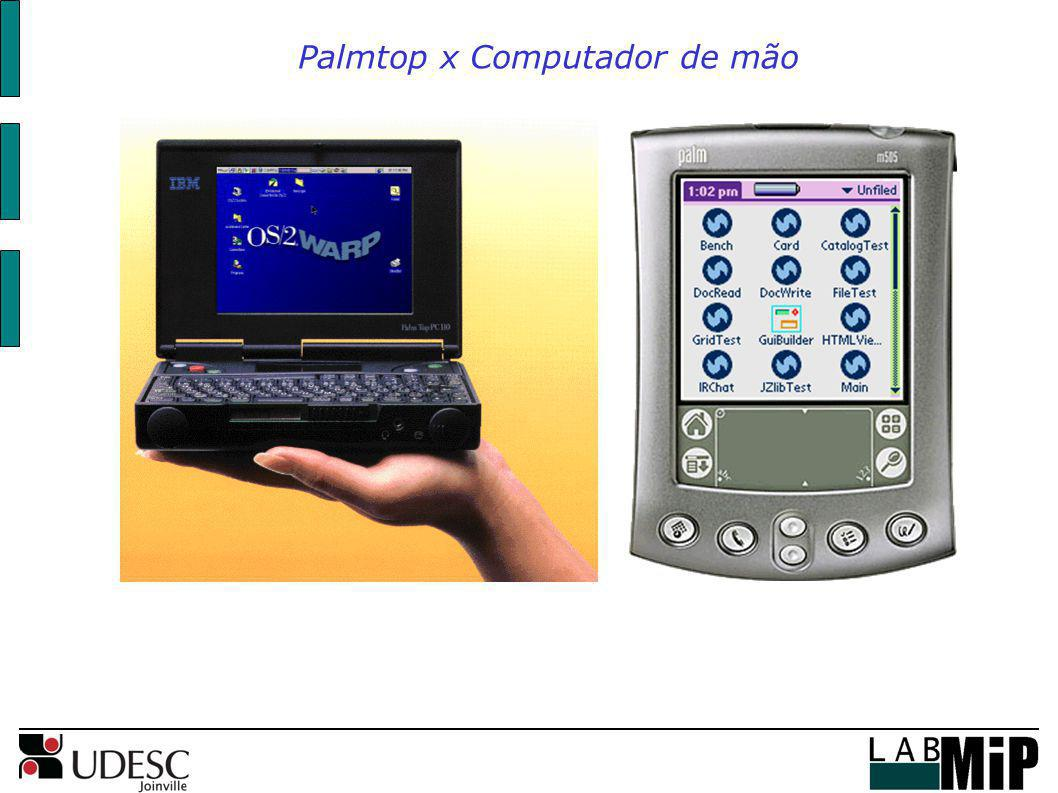 Palmtop x Computador de mão