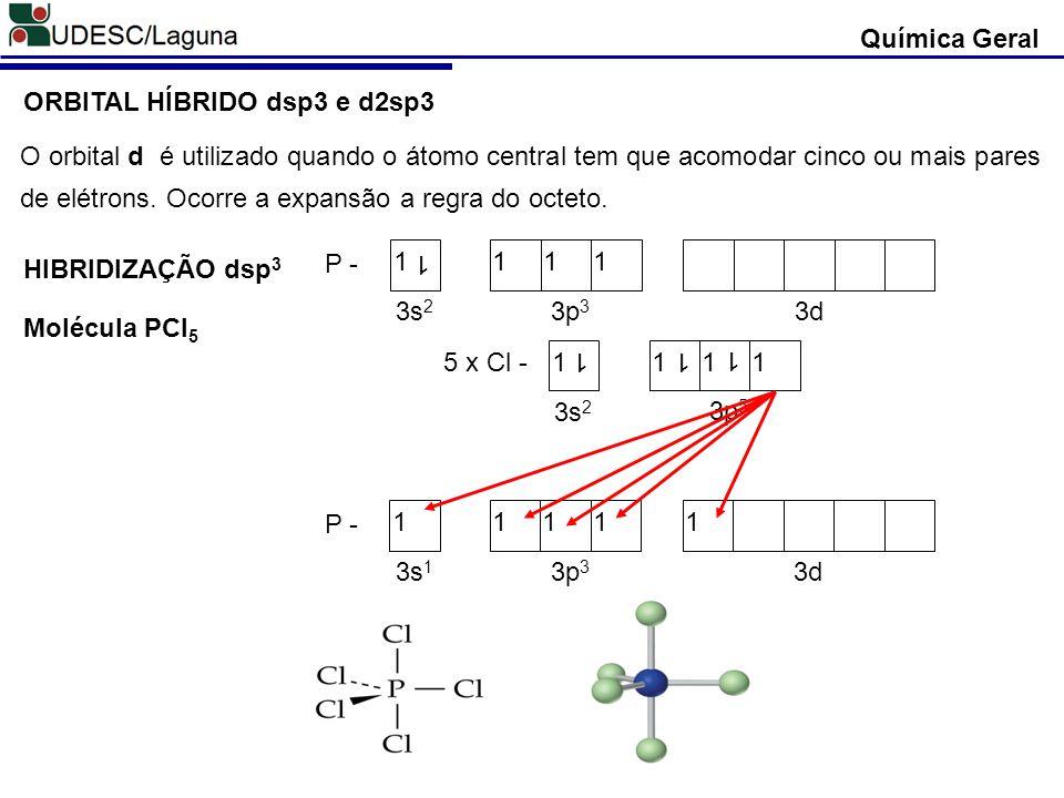 Química Geral ORBITAL HÍBRIDO dsp3 e d2sp3.
