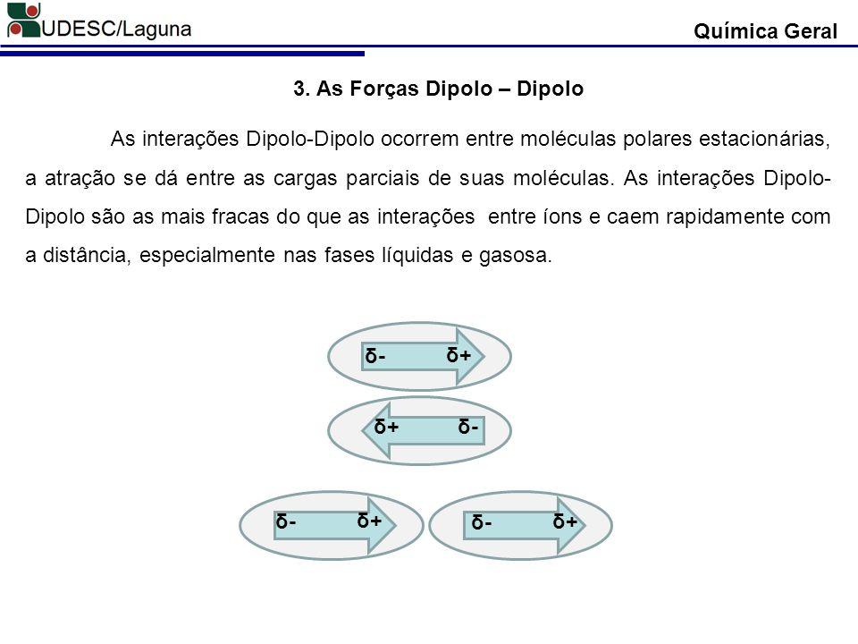 3. As Forças Dipolo – Dipolo