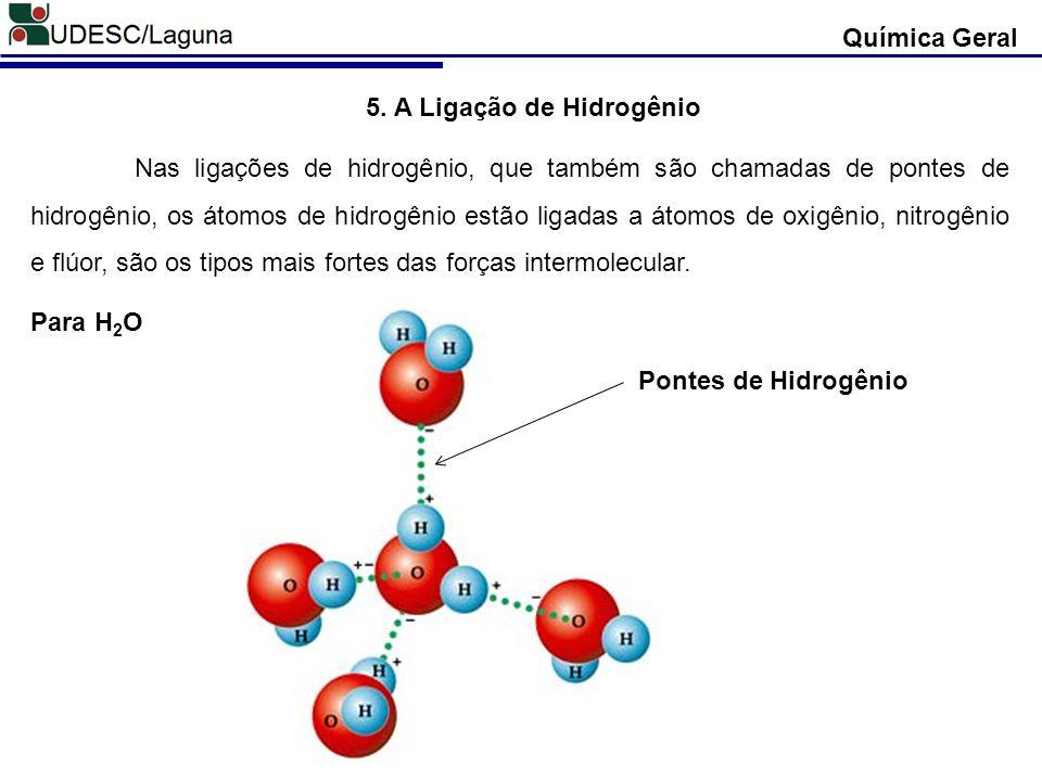 5. A Ligação de Hidrogênio