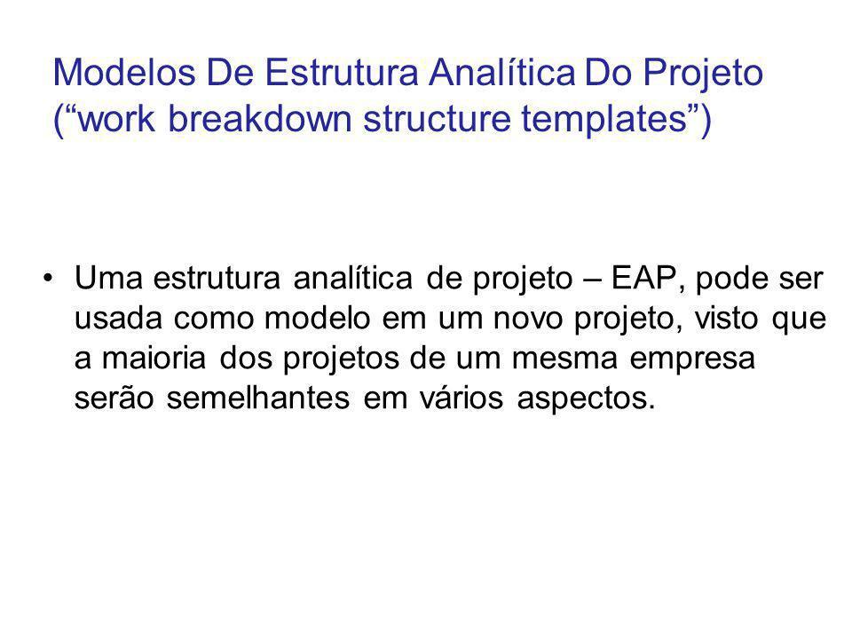 Modelos De Estrutura Analítica Do Projeto ( work breakdown structure templates )