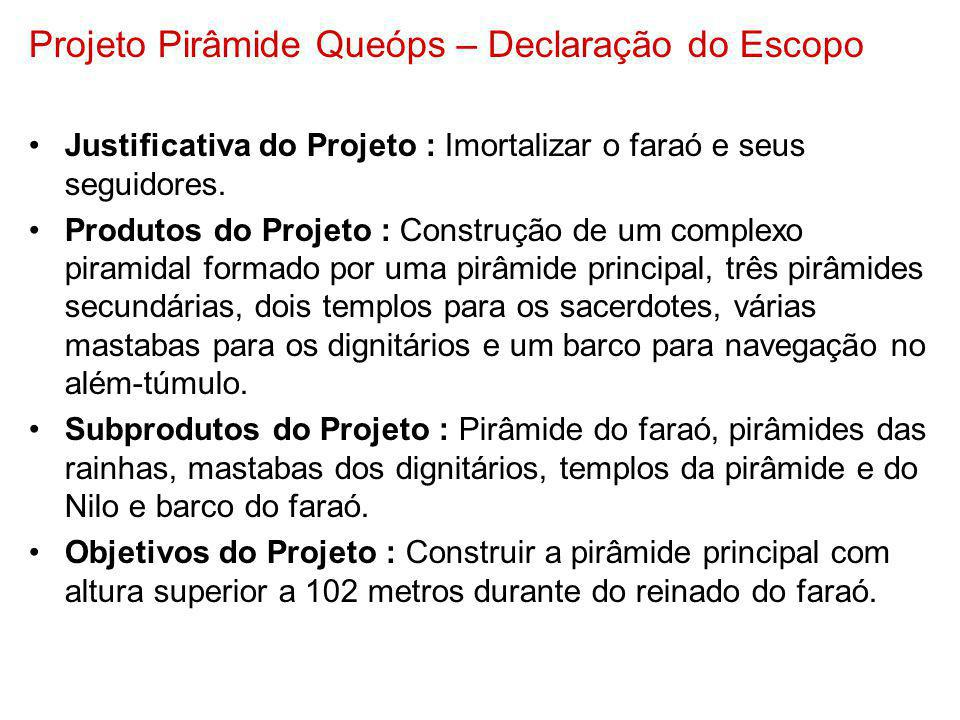 Projeto Pirâmide Queóps – Declaração do Escopo
