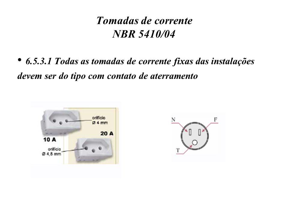 Tomadas de corrente NBR 5410/04
