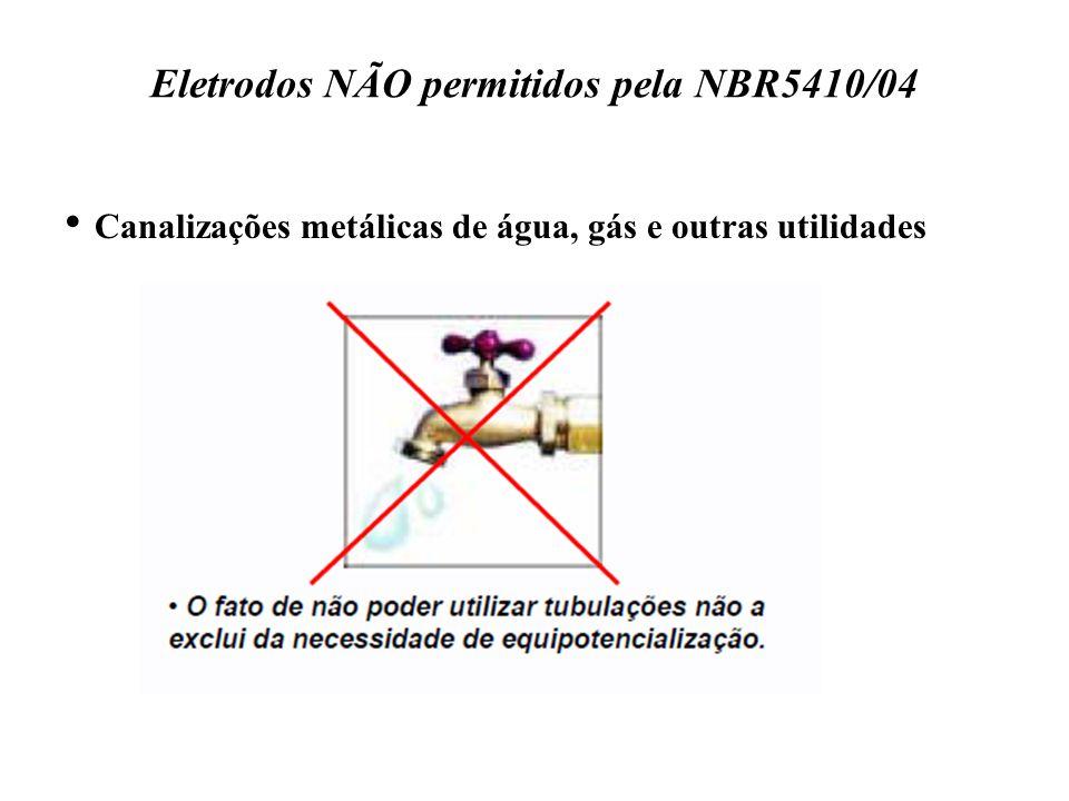 Eletrodos NÃO permitidos pela NBR5410/04