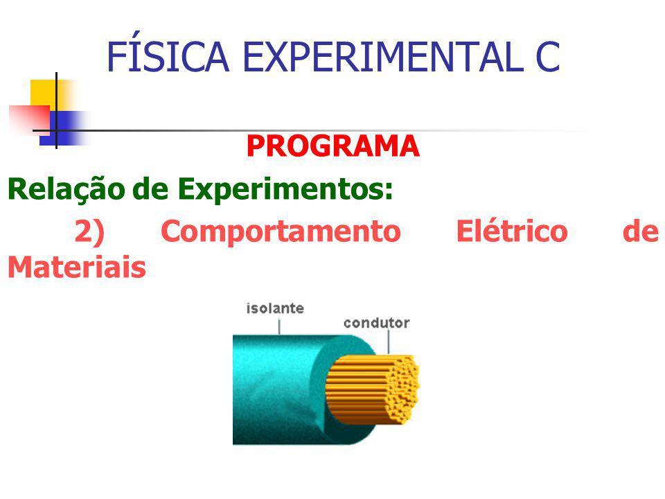 FÍSICA EXPERIMENTAL C PROGRAMA Relação de Experimentos:
