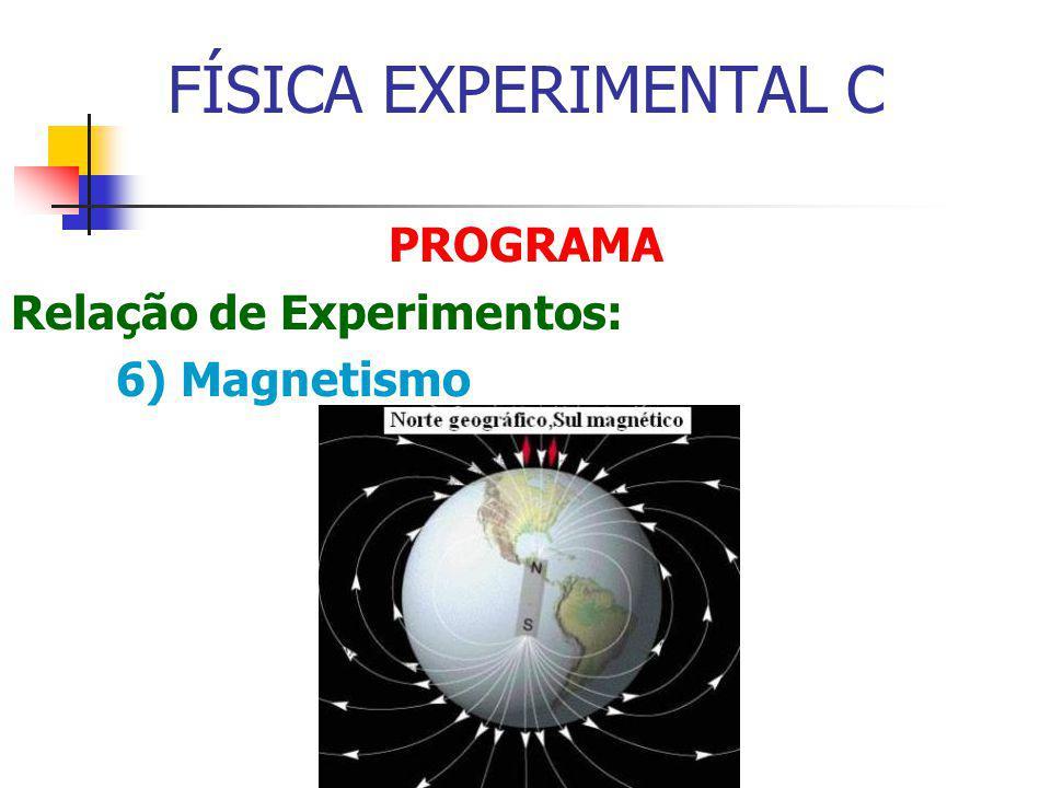 FÍSICA EXPERIMENTAL C PROGRAMA Relação de Experimentos: 6) Magnetismo